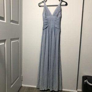 BCBGMAXAZRIA Jersey Ruched Goddess Gown Dress